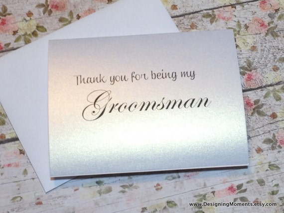 thank you for being my groomsman groomsman thank you card