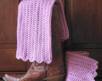 Leg Warmer, Boot Cuff, Hand Crocheted, Made in USA