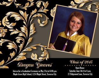 Photo Graduation Announcement - College and High School Graduation Invitation