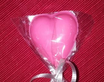 Medium Heart Lollipop Wedding Party Favor