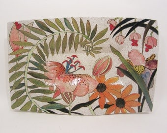Flowers & Pigment Medium Rectangular Tray