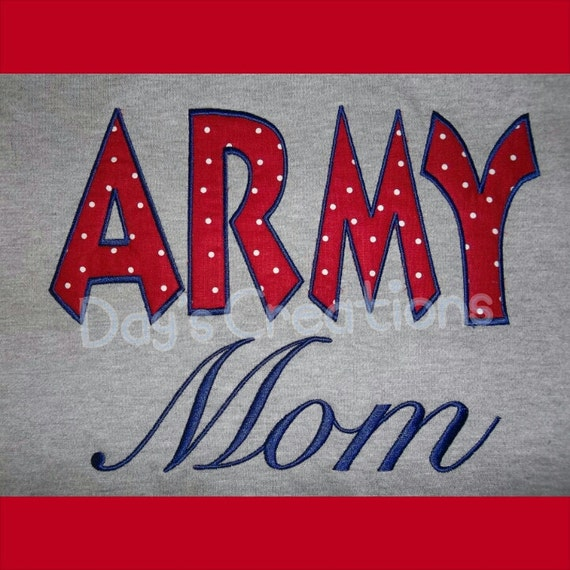 Custom Shirt - Embroidered Army Mom t-shirt - Mother's Day gift - Army mom gift - army mom spirit wear - proud army mom