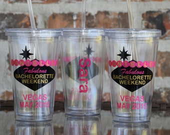 Las Vegas Sign Bachelorette Party Tumbler - Style B