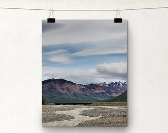 Alaska Photography, Denali Park, Landscape Photo, Braided River