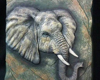 Ready to Paint Elephant Plaque