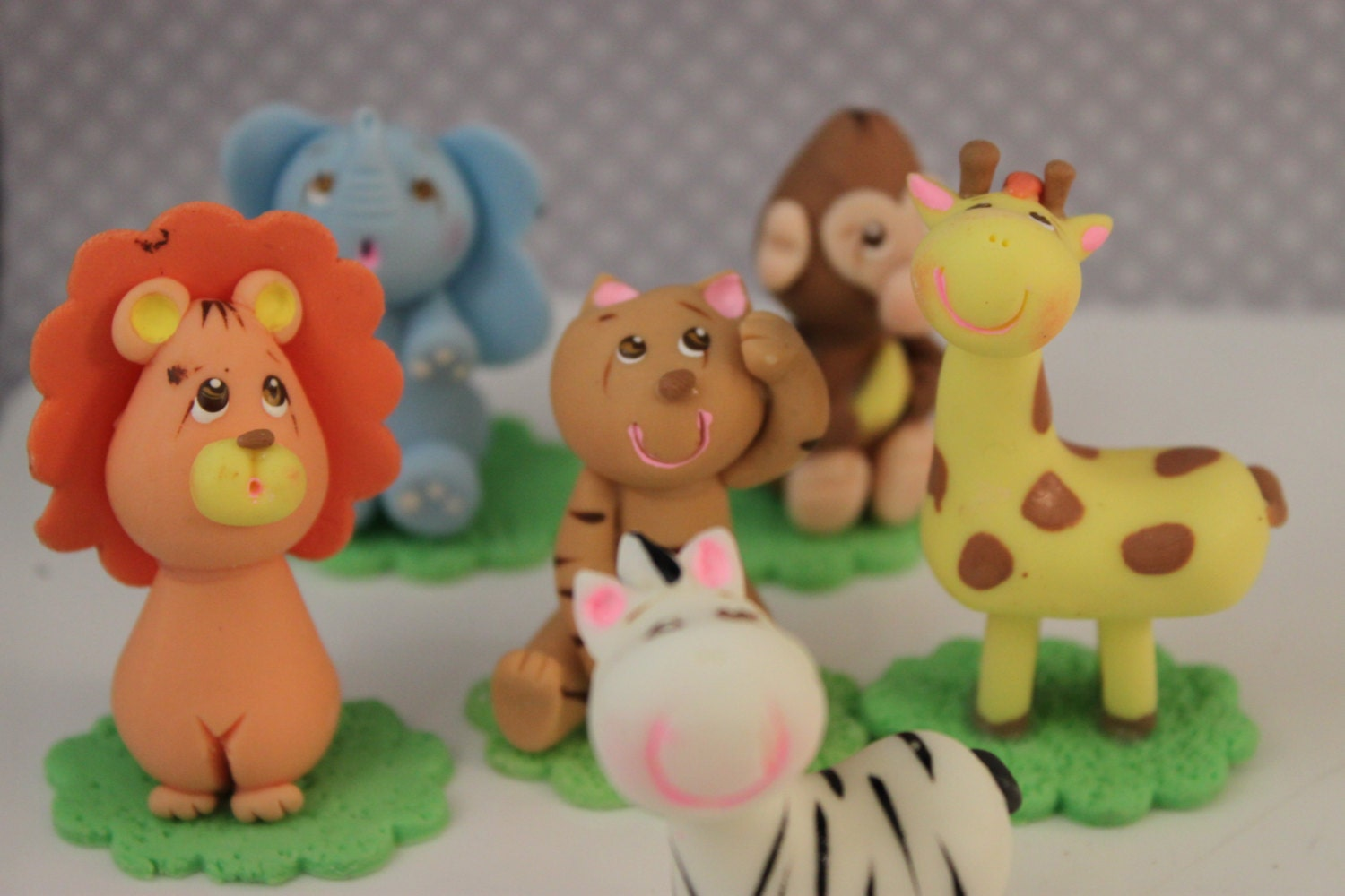 Safari jungle animal cake toppers decorations by designroom3 for Animal cake decoration