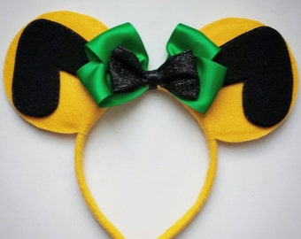 Pluto inspired Minnie Mouse Ears Headband Dog/yellow/green/mickey mouse/Birthday