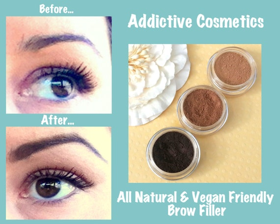 NEW COLORS AVAILABLE! All Natural, Vegan Friendly Eyebrow Filler- Don't neglect your Brows