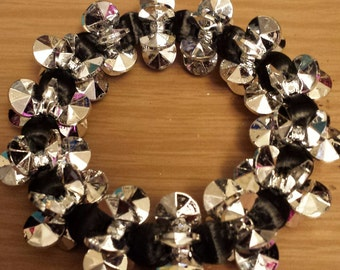 Love and Hip Hop and Basketball wives inspired silver and black bracelet
