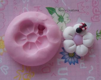 Daisy ladybug Mold 3 cm
