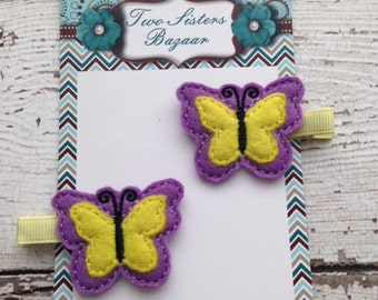 Butterfly hair clip, Butterfly hairbow, Spring/summer hairbow