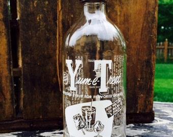 1940's Yum-E-Treet Duraglass Glass Bottle