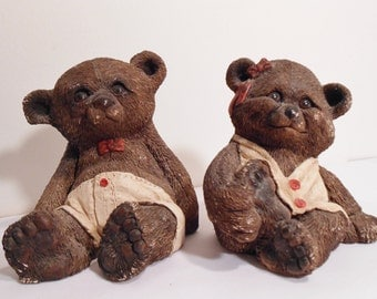 Bear Figurines STONE CRITTERS by United Designs