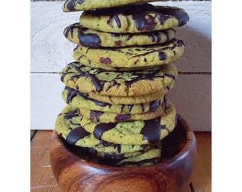 Matcha Choc Cookies