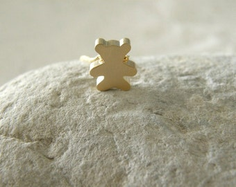 Gold Bear Necklace, Teddy Bear Gold Necklace, Simple, Modern, Everyday