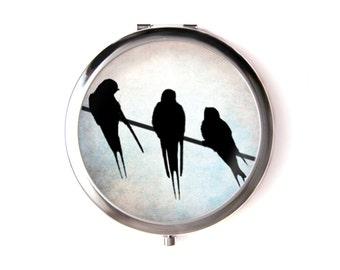 Swallows mirror & Organza pouch