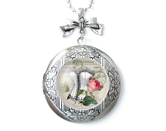 Corset Photo locket pendant