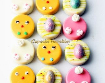 Easter cookies etsy easter cookies easter basket edible gifts chocolate oreos cookies pops chicks bunnies eggs birthday baby shower negle Images