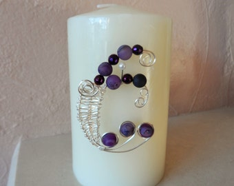 Purple and Silver Wire Wrapped Brooch with Druzy and Agate