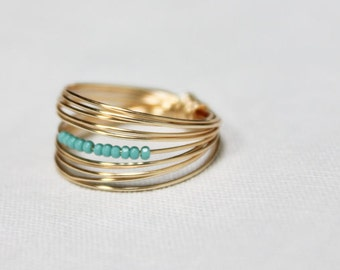 Beaded Go Ring || 14k Gold-Filled