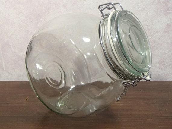 large clamp lid glass jar 8 x 7 1 2 by thefreckledberry on etsy. Black Bedroom Furniture Sets. Home Design Ideas