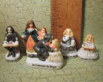 COMTESSE de SEGUR Children's Book Author Les Malheurs de Sophie Sophie's Misfortunes - French Feve Feves Figurine Miniatures K52