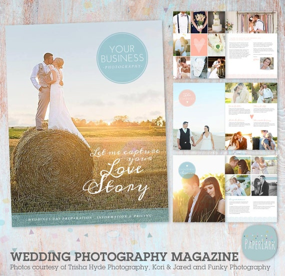 Wedding photography magazine 22 page template pg004 for Wedding photography magazine template
