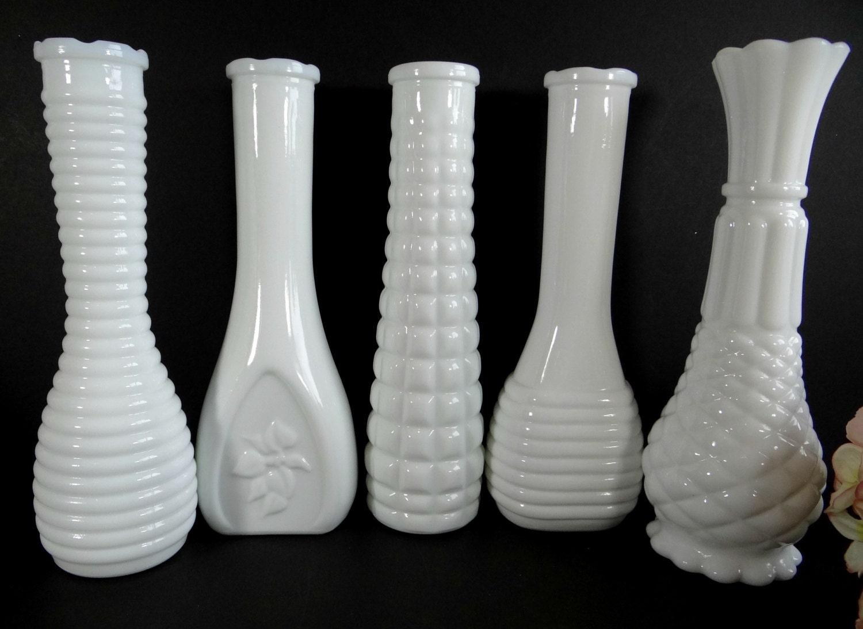reserved for amanda vintage milk glass vases set of 5 vase. Black Bedroom Furniture Sets. Home Design Ideas