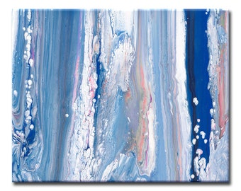 Large Royal Blue and White Art Print ~ Large Blue Art Piece ~ Bright Blue Artwork ~ Abstract Print ~ Navy Blue ~ Sky Blue
