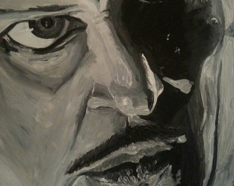 Vincent Price Painting on pressboard 16x20