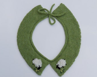 Wooly sheep lambswool collar