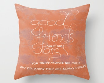 Pillow cover Friends are like stars