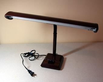 Industrial airplane wing desk lamp-vintage metal desklamp-dark brown-art deco-vintage office