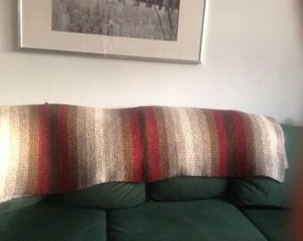 crochet afghan blanket, throw blanket, handmade, star stitch, Icelandic wool and einband (lace yarn), warm, valentines gift, cozy, winter
