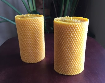 "6"" Beeswax Pillar Candle"