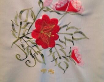 "Vintage Pillows Hungarian ""Kalocsai"" Embroidered Pattern"