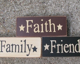 59216 -Faith Family Friends Blocks set of 3 (Cream,Burgundy and Black)