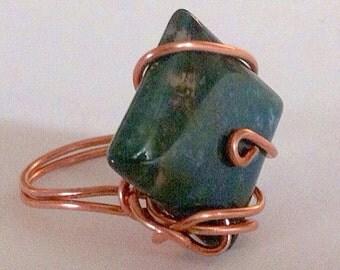 Copper & Fancy Jasper Size 8 Ring