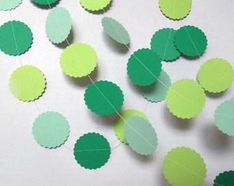 Paper Garland,Green Paper Garland,Confetti Garland,Birthday Garland,Nursery Garland,Birthday Garland,10 feet long