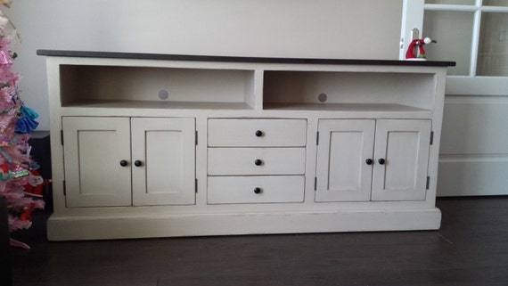 TV Stand 6' Long / Vintage TV Console / Shabby Chic TV