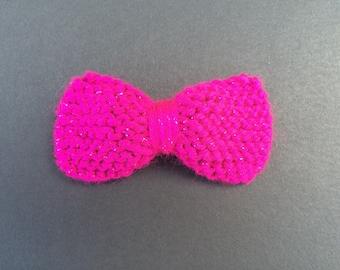 Dark Pink Sparkly Hair Bow-Size Medium