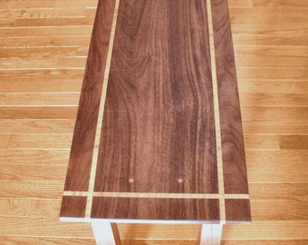 Walnut and Curly Maple Coffee Table