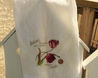 Tulips floursack tea towel