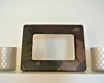 Army Camouflage Wood Picture Frame