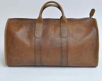 Handmade Vegetable Leather Duffle Bag