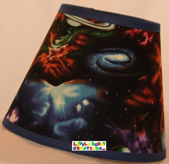 Space outerspace outer space fabric lamp shade 10 sizes to for Outer space material