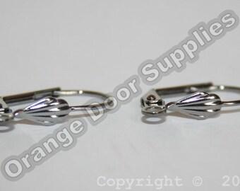 Gunmetal Leverback Earrings - 20 pcs 10 Pairs (JBE103)