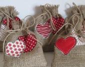 Rustic Gift Bag, Handmade Burlap Gift Bag, Rustic Wedding Bridesmaids Gift Bag, Made in Scotland