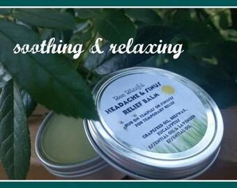 HEADACHE AND SINUS Relief Balm, Aromatherapy Headache Relief, Headache Balm, Natural Headache Relief,, Handmade Natural Headache Relief