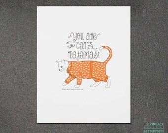 Cat art print, JJD_LP_CPJP